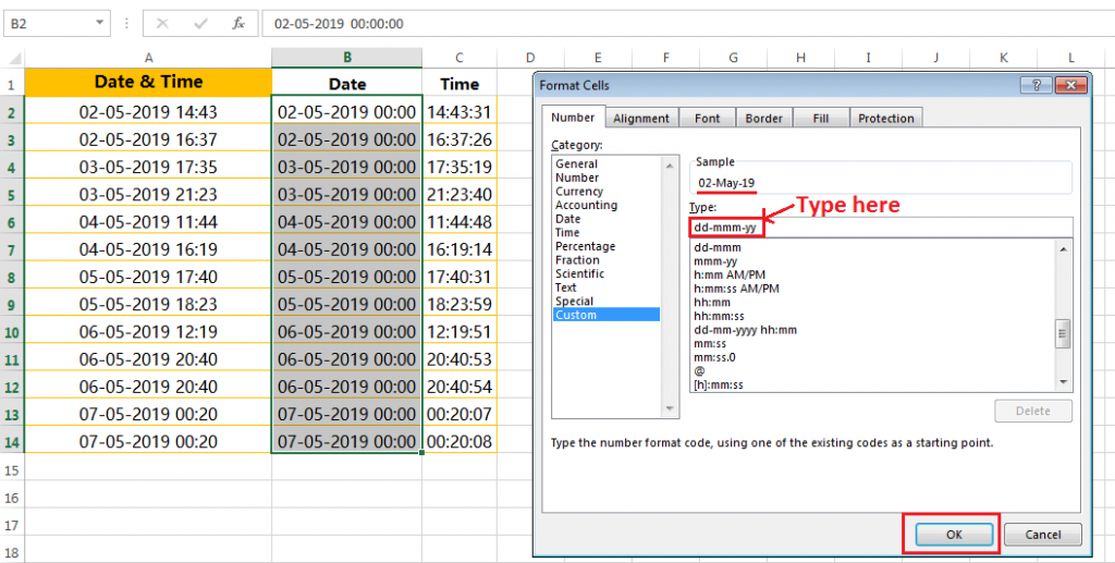 Formatting of dates in a valid format-5