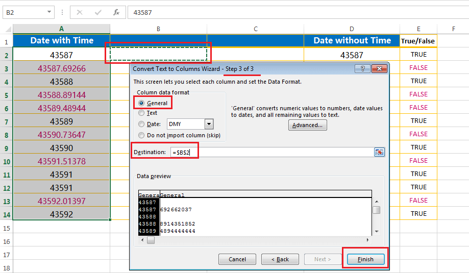 Split the point extension after the values - third step