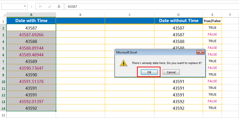 Split the point extension after the values - fourth step