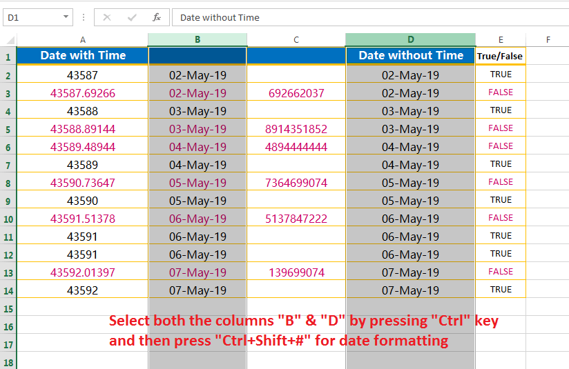 Change the general format into the date format