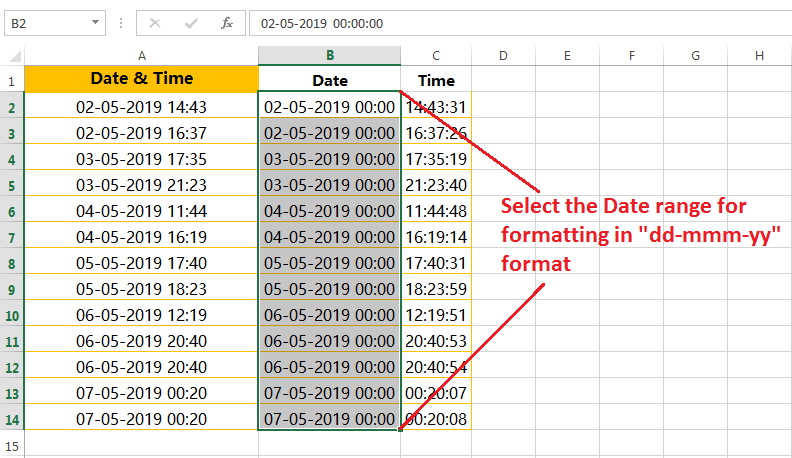 Formatting of dates in a valid format-1