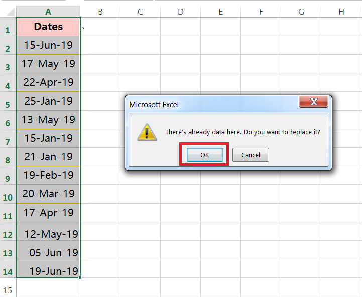 Text to Columns (Split dates in the days, months and years having delimiter hyphen)-4