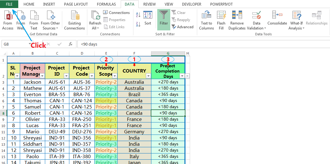 Hide and Restore the Scroll Bars, Sheet Tabs-2