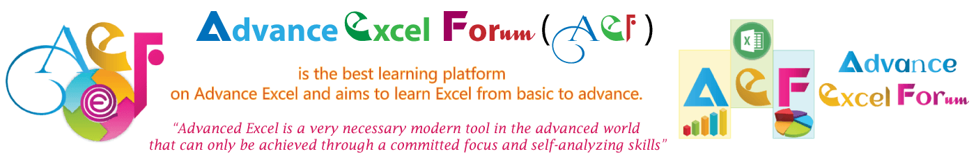 Advance Excel Forum