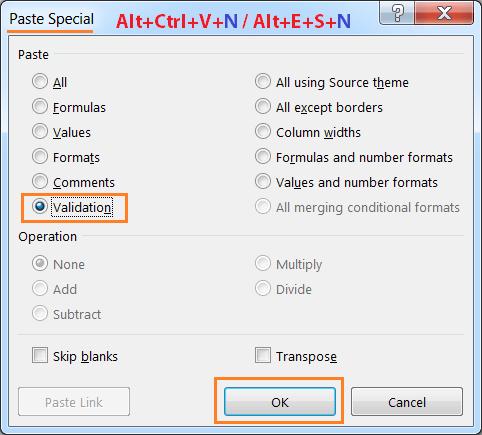 Alt+Ctrl+V+N or Alt+E+S+N