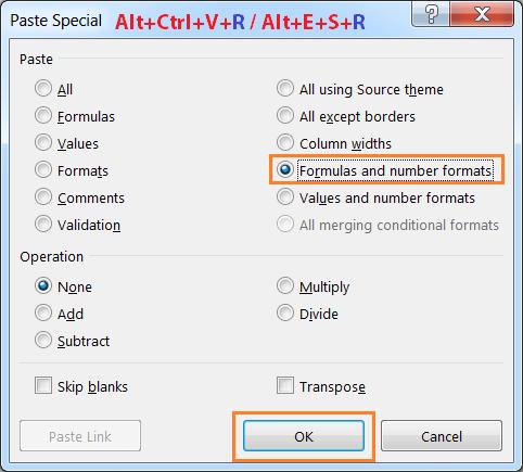 Alt+Ctrl+V+R or Alt+E+S+R