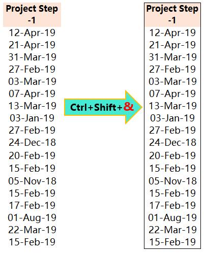 Excel Shortcut Ctrl+Shift+&