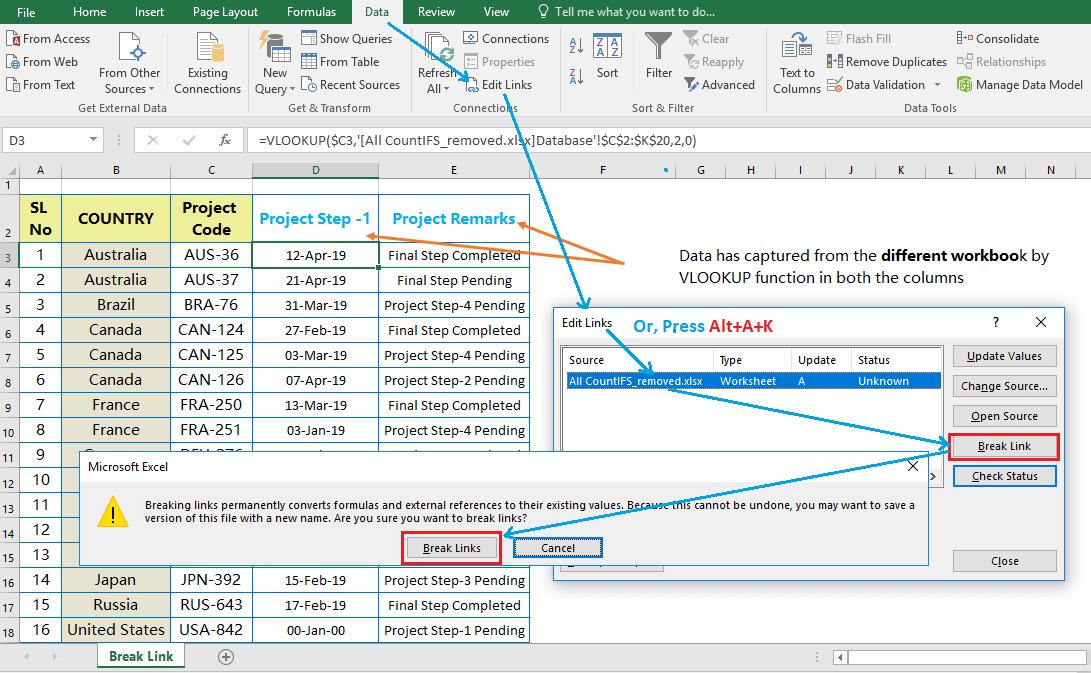 Best Uses of Break Links instead of Paste Special_Step2