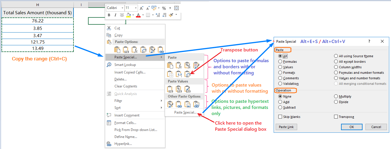 How to use Paste Special in Excel_1