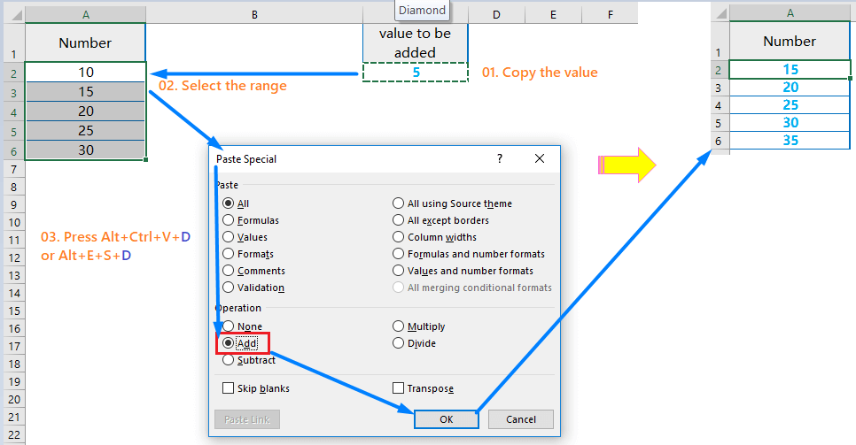 Adding Similar Value in the Range