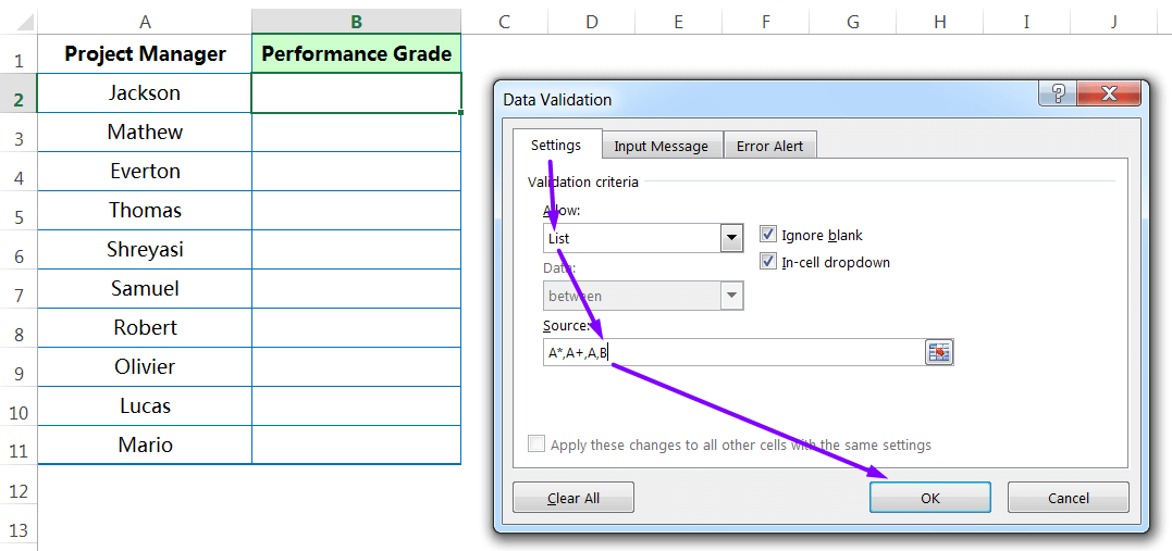 Pasting 'Validation' rules to the entire Ranges_step2