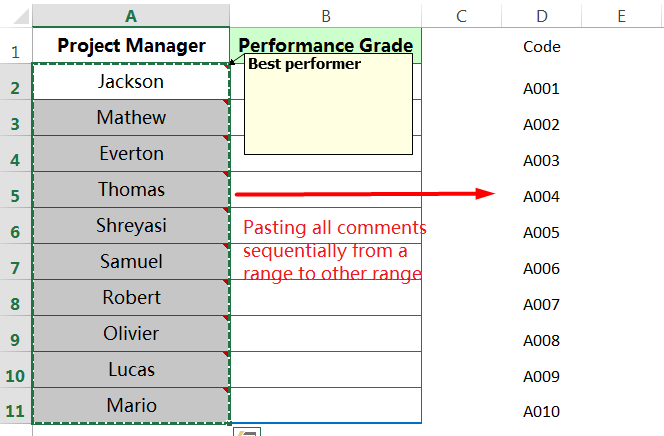 Pasting all 'Comments' from one range to other range_1