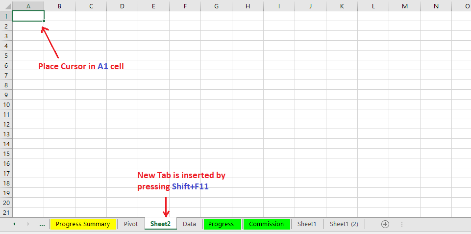 Reduce Excel File size-2(Create New Worksheet)