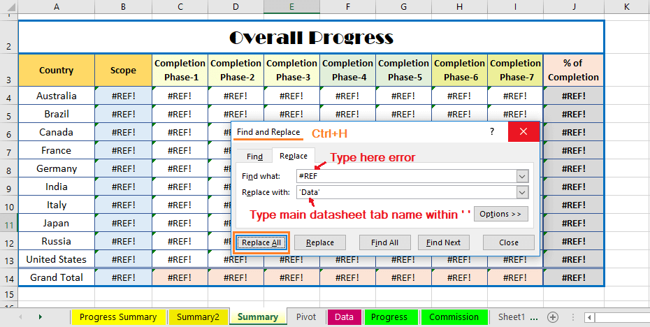 Reduce Excel File size-23 (Evaluate the formulas in different worksheets dependent on the Main Database)