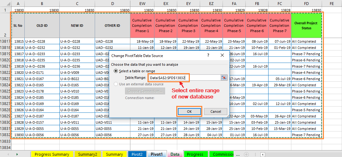 Reduce Excel File size-26 (Change Old Data Source to New Data Source of a Pivot Table)