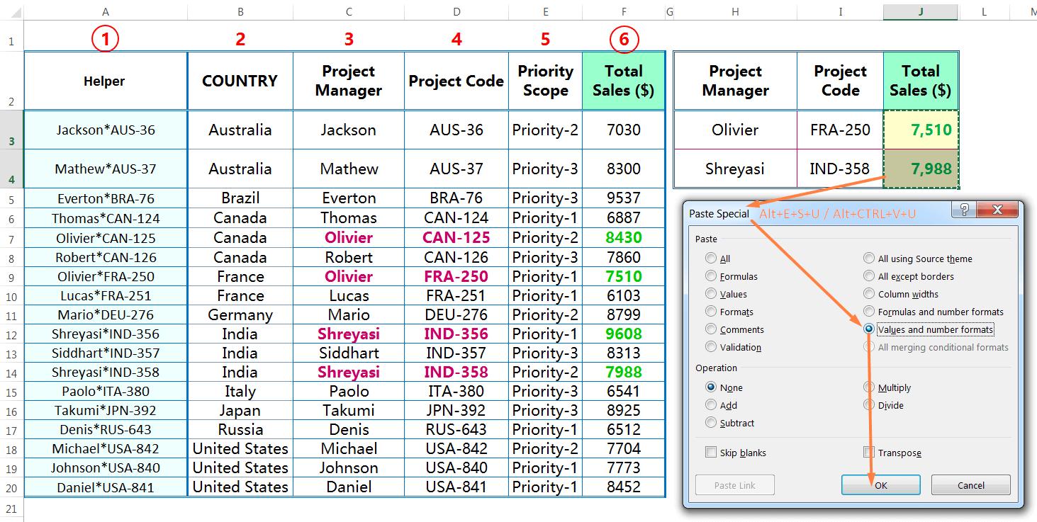 Convert all the Formulas into Values_ALT+E+S+U or ALT+Ctrl+V+U