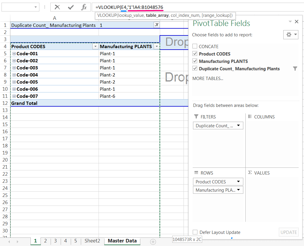 Transpose Data in Excel_A combined Process for Transpose Columns to Rows in Excel_Assign the VLOOKUP formula with a Single Worksheet_3