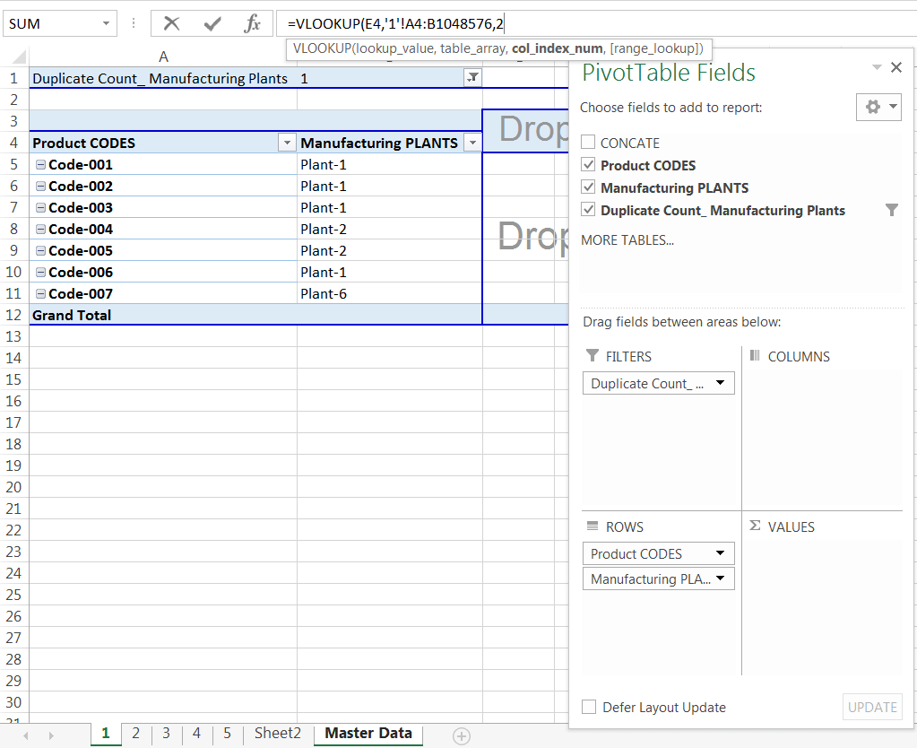 Transpose Data in Excel_A combined Process for Transpose Columns to Rows in Excel_Assign the VLOOKUP formula with a Single Worksheet_4