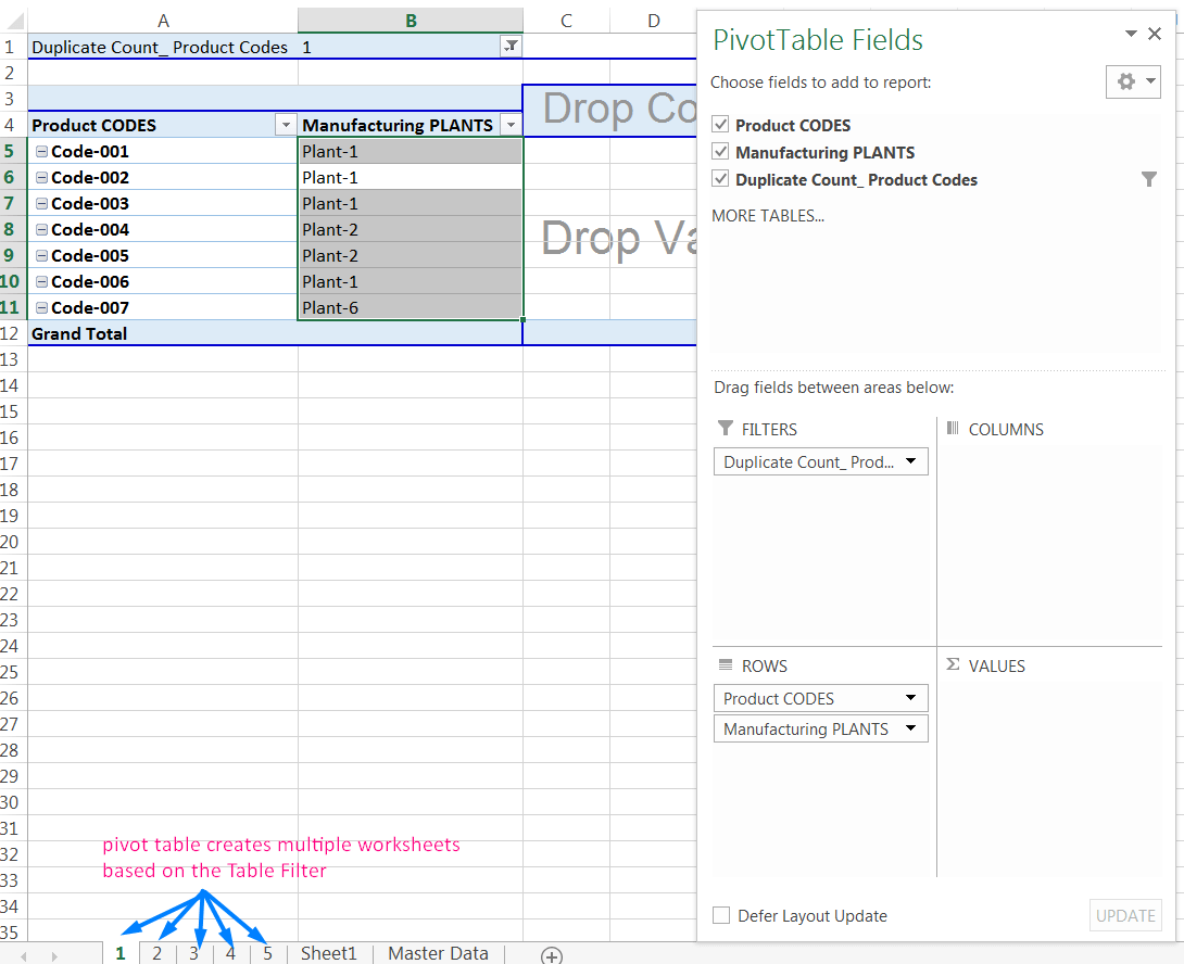 Transpose Data in Excel_A combined Process for Transpose Columns to Rows in Excel_Creating Multiple Worksheets based on the Table Filter_2