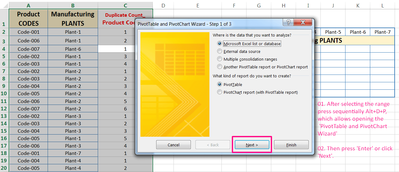 Transpose Data in Excel_A combined Process for Transpose Columns to Rows in Excel_Creating a Pivot Table of Dataset_1