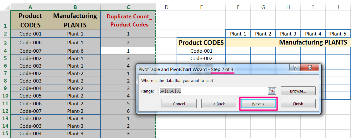 Transpose Data in Excel_A combined Process for Transpose Columns to Rows in Excel_Creating a Pivot Table of Dataset_2