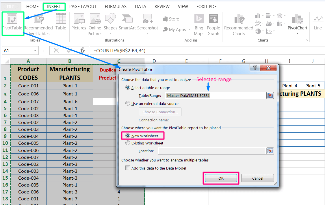 Transpose Data in Excel_A combined Process for Transpose Columns to Rows in Excel_Creating a Pivot Table of Dataset_5