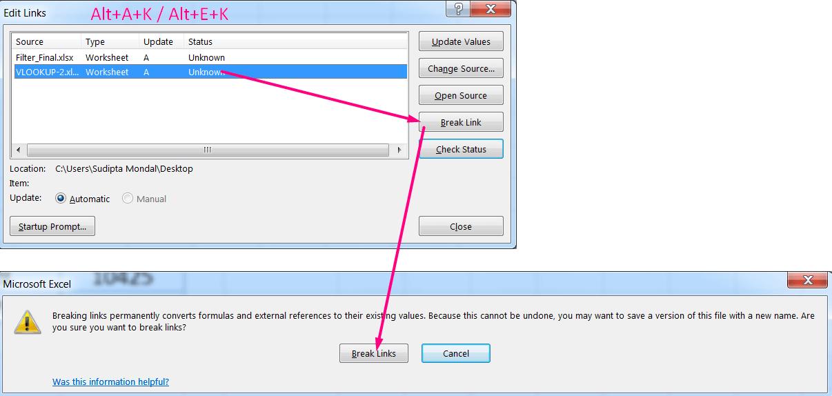 How to Apply Break Link in Excel_01