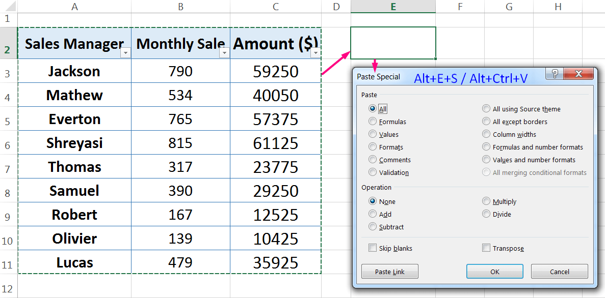 How to Apply Paste Special in Excel_1