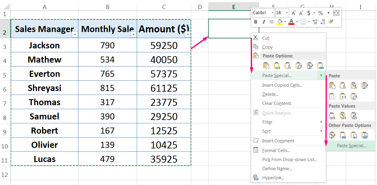 How to Apply Paste Special in Excel_3