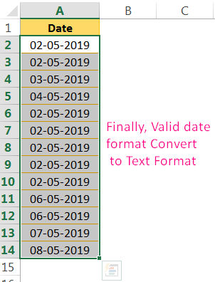 Convert Date to Text in Excel Using the 'Convert Text to Columns' Wizard_4
