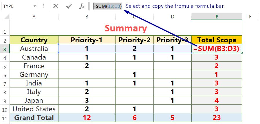 Exact Copy the Formula from the Formula Bar_1