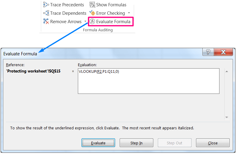 HOW TO FIX CIRCULAR REFERENCE IN EXCEL_Using the Evaluate Formula dialog box