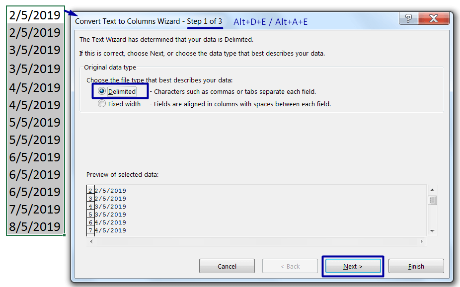 Convert Text to Date Format (Using Text to Columns)_1