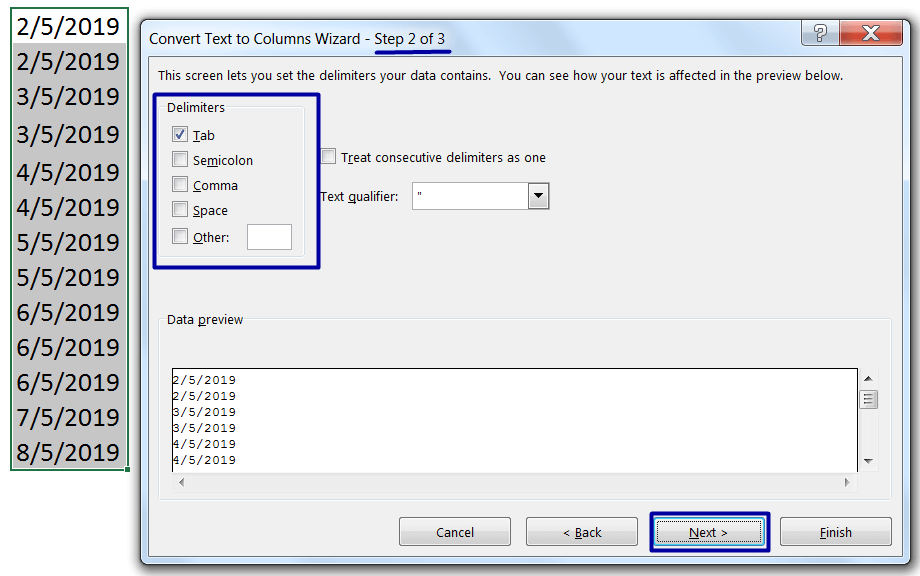 Convert Text to Date Format (Using Text to Columns)_2
