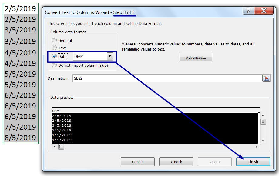 Convert Text to Date Format (Using Text to Columns)_4
