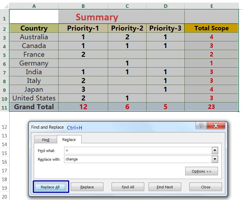 Exact Copy the Formula with 'Find and Replace' dialog box_1