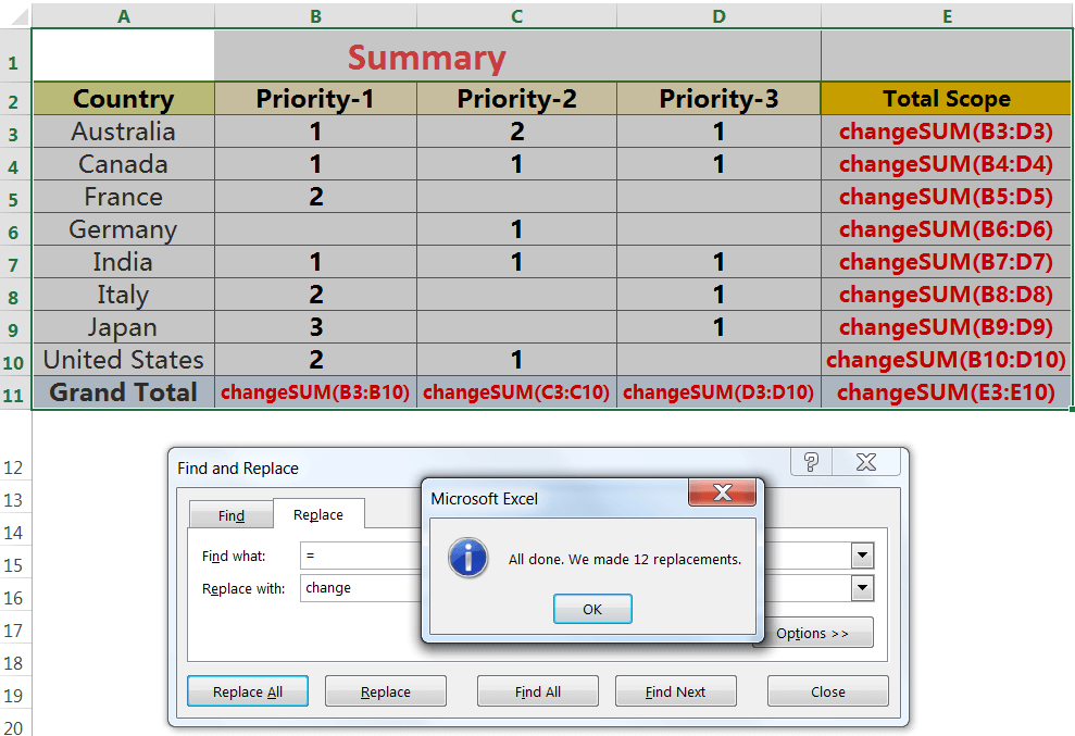 Exact Copy the Formula with 'Find and Replace' dialog box_2