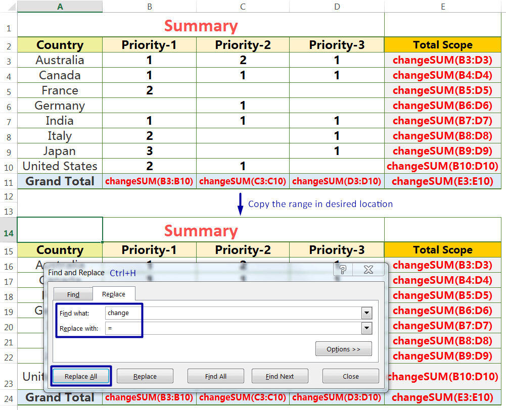 Exact Copy the Formula with 'Find and Replace' dialog box_3