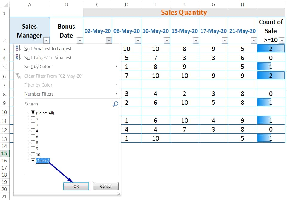 CHALLENGES OF HOW TO DELETE BLANK ROWS IN EXCEL_using AutoFilter_1