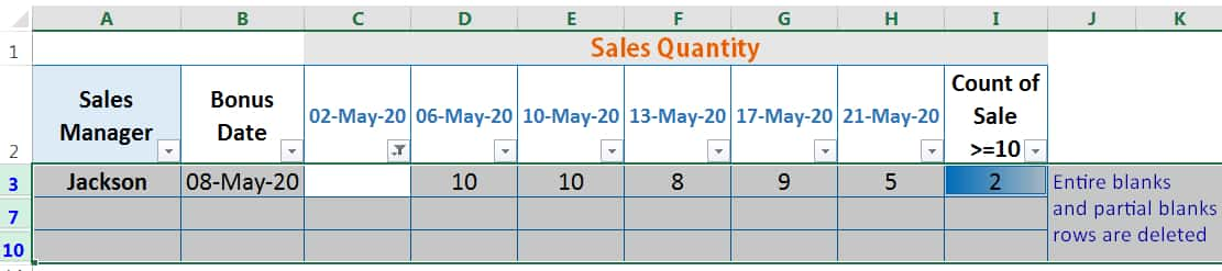 CHALLENGES OF HOW TO DELETE BLANK ROWS IN EXCEL_using AutoFilter_2