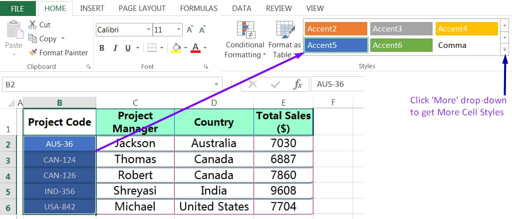 HOW TO APPLY CELL STYLES IN EXCEL