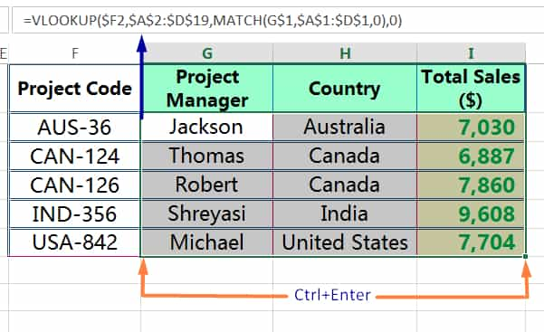 HOW TO COPY FORMULA IN EXCEL ➢ USING CTRL+ENTER_3