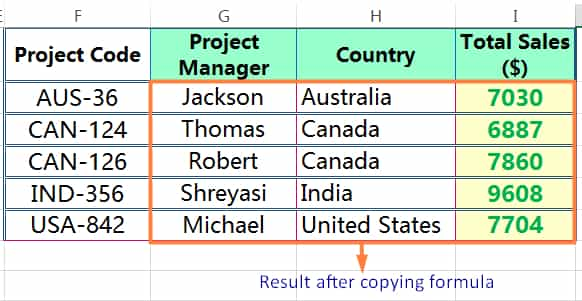 HOW TO COPY FORMULA IN EXCEL_Result