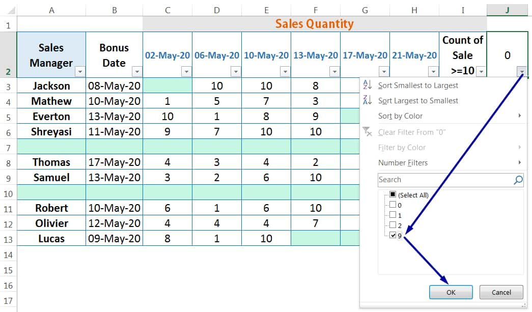 HOW TO DELETE BLANK ROWS IN EXCEL ➢ USING THE COUNTBLANK FUNCTION_4