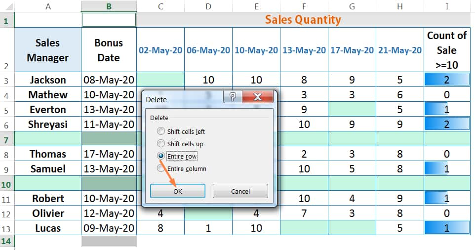 HOW TO DELETE BLANK ROWS IN EXCEL ➢ USING THE 'FIND AND REPLACE' DIALOG BOX_4