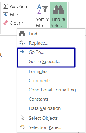 HOW TO DELETE BLANK ROWS IN EXCEL ➢ USING THE 'GO TO SPECIAL' BLANKS OPTION_2