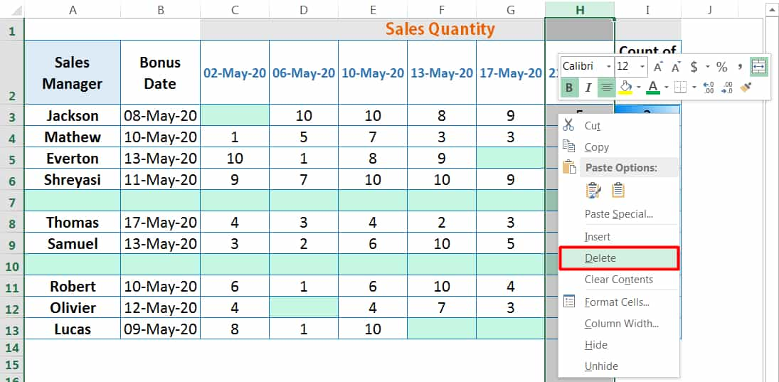 HOW TO DELETE COLUMNS IN EXCEL_4