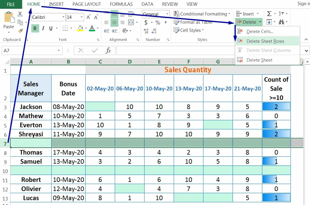 HOW TO DELETE ROWS IN EXCEL_1