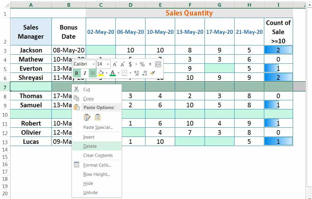 HOW TO DELETE ROWS IN EXCEL_2