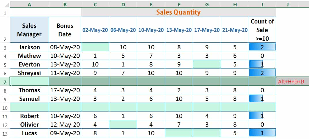 HOW TO DELETE ROWS IN EXCEL_4